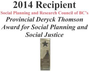 2014 Deryck Thomson Award