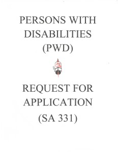 PWD Application Request