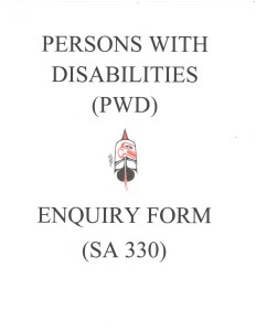PWD Enquiry Form