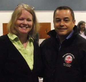 Ali Davies (BCANDS Disability Case Manager) and Shawn Atleo (AFN National Chief)