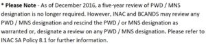 pwd 5 year review